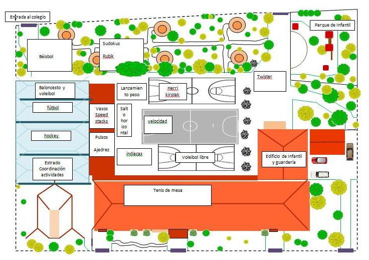 plano Colegio Día Deporte